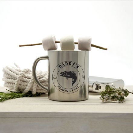 Personalised Gentlemen's Fishing Fuel Outdoor Mug